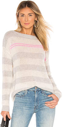 Autumn Cashmere Loose Striped Boatneck Sweater