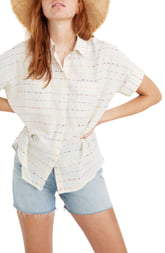 Madewell Flecked Rainbow Stripe Courier Shirt