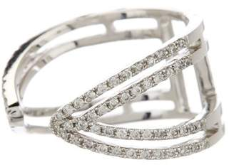 Meira T 14K White Gold Diamond Pave Ring - 0.39 ctw