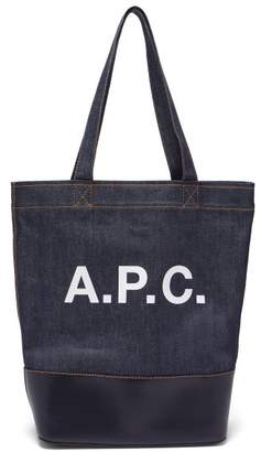 A.P.C. Axel Japanese Denim Tote Bag - Womens - Dark Blue