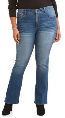 Terra & Sky Women's Plus Size Sculpting Bootcut Jean