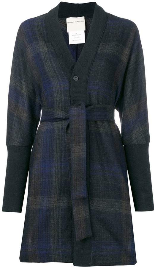 Buy check buttoned cardigan!