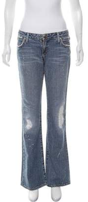 Paper Denim & Cloth Mid-Rise Flared Jeans