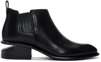 Alexander Wang Black and Rose Gold Kori Boots