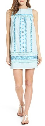 Women's Vineyard Vines Embroidered Cotton Shift Dress $148 thestylecure.com
