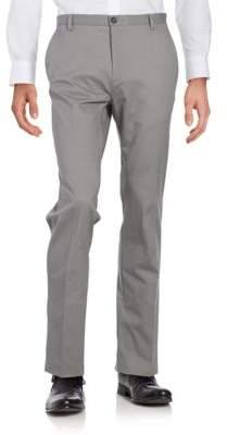 Calvin Klein Flat-Front Straight-Leg Pants
