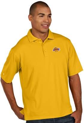 Antigua Men's Los Angeles Lakers Pique Xtra-Lite Polo