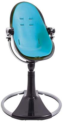 Bloom Fresco Chrome Frame High Chair, Black, Bermuda Blue