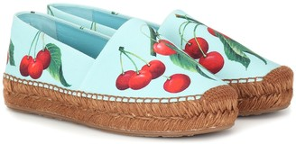 Dolce & Gabbana Exclusive to Mytheresa cherry printed espadrilles