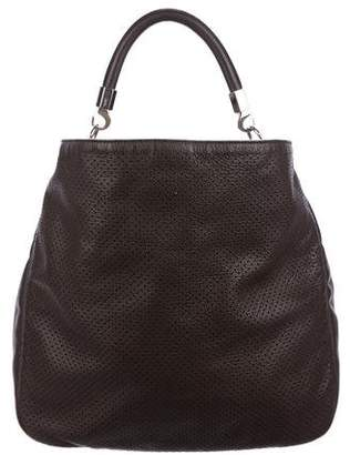 Saint Laurent Perforated Roady Leather Tote