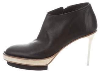 Ann Demeulemeester Platform Round-Toe Booties w/ Tags Black Platform Round-Toe Booties w/ Tags