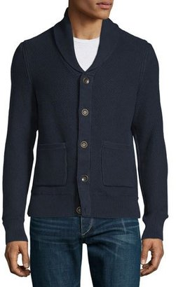 Rag & Bone Avery Shawl-Collar Knit Cardigan, Navy $275 thestylecure.com