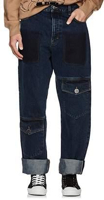 J.W.Anderson Men's Wide-Leg Cuffed Cargo Jeans