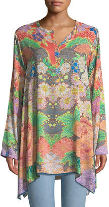Johnny Was Peadover Floral Challis Tunic
