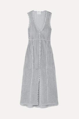 Alice McCall Magic Metallic Open-knit Midi Dress - Stone