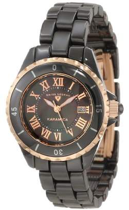 Swiss Legend Women's 10049-BKBRR Karamica Black Mother-Of-Pearl Dial Watch