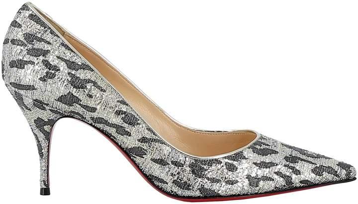 IRIZA 100 SilverBlack Lurex Women Shoes Christian Louboutin