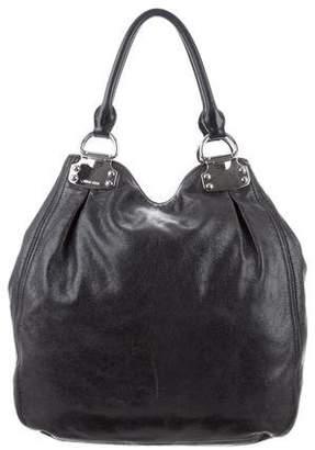 Miu Miu Grained Leather Hobo Bag
