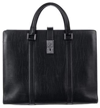 Gucci Leather Lock Tote Black Leather Lock Tote