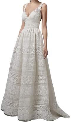 Emastor Women Sleeveless Bridesmaid Dress Sleeveless Maxi Evening Prom Dresses 6 XL