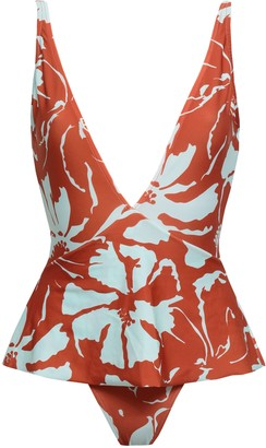 Adriana Degreas Layered Floral-print Swimsuit