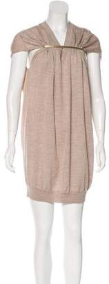 Maison Margiela Buckle-Accented Wool Dress