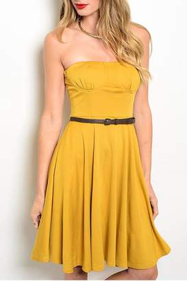 Alythea Strapless Belted Dress