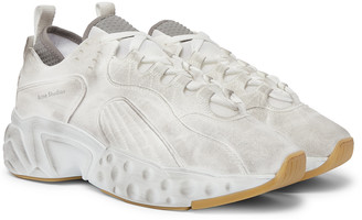 Acne Studios Rockaway Safety Canvas and Mesh Sneakers - Men - White