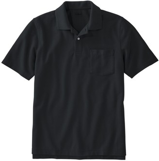 L.L. Bean L.L.Bean Men's Premium Double LA Polo, Hemmed Short-Sleeve with Pocket