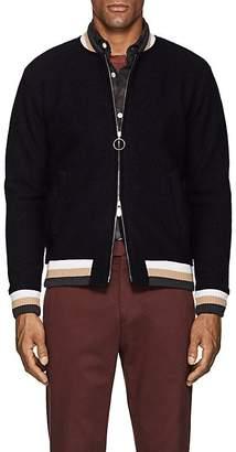 Eleventy Men's Striped Wool Bomber Jacket