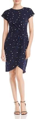 Leota Mimi Star-Print Twist-Front Dress