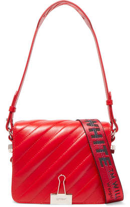 Quilted Leather Shoulder Bag - Red
