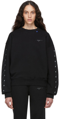 Off-White Black and Silver Diag Backbone Over Crewneck Sweatshirt