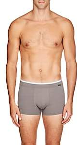 Hanro Men's Liam Cotton-Blend Low-Cut Boxer Briefs-Gray