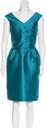 Dice Kayek Sleeveless Satin Dress