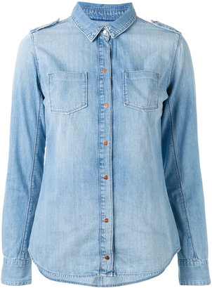 Calvin Klein Jeans slim fit denim shirt $88.07 thestylecure.com