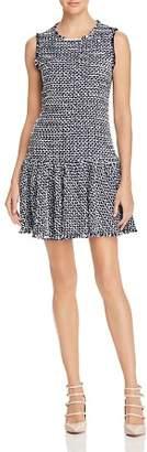 Rebecca Taylor Sleeveless Multi Tweed Dress