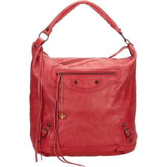 Balenciaga Day Burgundy Leather Handbag