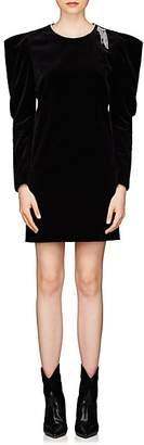 Isabel Marant Women's Ziane Embellished Velvet Cocktail Dress - Black