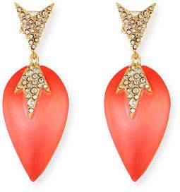 Alexis Bittar Crystal Encrusted Lucite Dangle Earrings