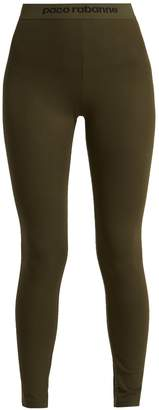 Paco Rabanne Bodyline logo-jacquard performance leggings