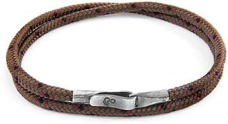 ANCHOR & CREW - Brown Liverpool Silver & Rope Bracelet