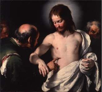Bernardo bigogo Oil painting 'Bernardo Strozzi - The Incredulity of Saint Thomas,c 1620' printing on Perfect effect Canvas , 24x27 inch / 61x68 cm ,the best Hallway gallery art and Home decor and Gifts is this Best Price Art Decorative Canvas Prints