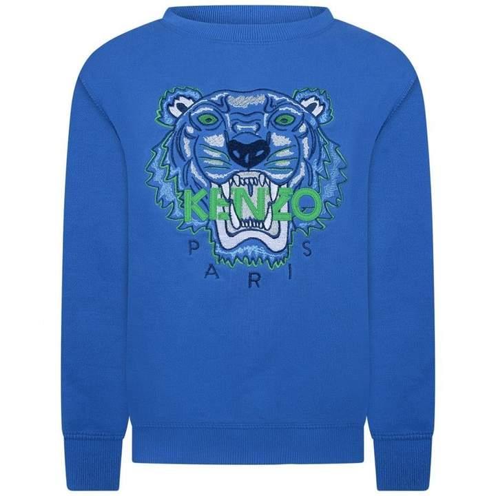 KidsBoys Blue Tiger Sweater