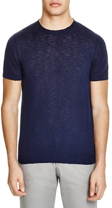 The Men's Store at Bloomingdale's Slub Knit Short Sleeve Sweater $118 thestylecure.com