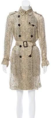 3.1 Phillip Lim Animal Print Belted Dress