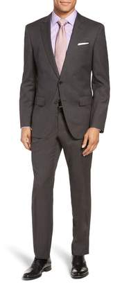 BOSS Huge/Genius Trim Fit Solid Wool Suit
