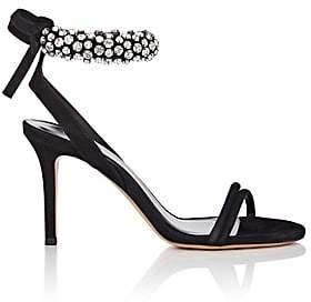 Isabel Marant Women's Alrin Crystal-Embellished Suede Sandals-Black