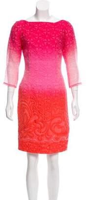 Prabal Gurung Floral Matelassé Knee-Length Dress