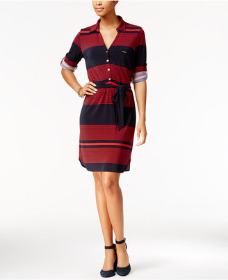 Tommy Hilfiger Striped Shirtdress $99 thestylecure.com